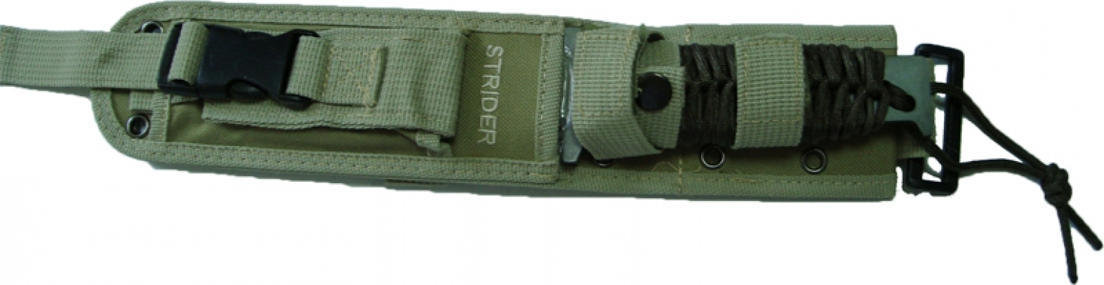 Cutit militar STRIDER 33 cm finisaj Tiger, maner pacacord,teaca cordura